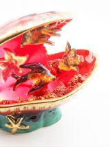 Lampe coquillage céramique Vallauris