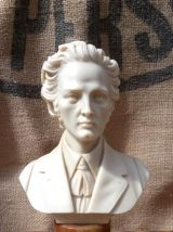 Buste de Chopin sur socle en marbre signé A. Giannelli