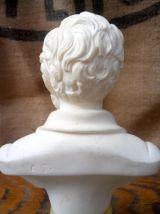 Buste de Wagner en sur socle en onyx signé A. Giannelli