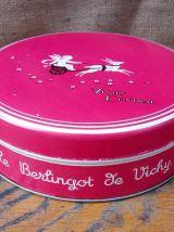 Boite publicitaire en tôle lithographiée Vichy Célestins