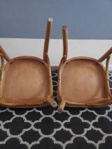 chaises de bistrot en bois courbé verni vintage