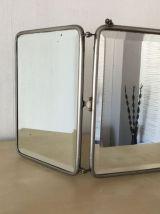 Miroir triptyque barbier
