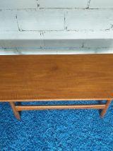 Table basse scandinave teck vintage années 60