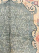 Tapis ancien Chinois Art Deco fait main, 1B452