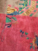 Tapis ancien Chinois Art Deco fait main, 1B467