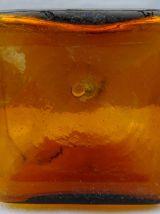 Bonbonne à base rectangulaire Orange brûlée