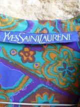 YVES SAINT LAURENT robe tablier vintage 40
