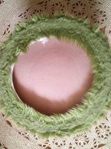 Pouf moumoute vert - Années 70