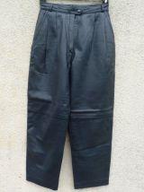 VINTAGE 80S pantalon cuir 7/8ème taille 36