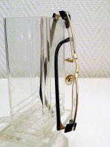 Monture de Lunettes Vintage Rectangulaire Metal Doré- L'Amy
