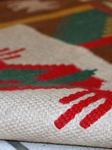 Tapis vintage Turc Anatolian kilim fait main, 1C482