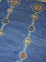 Tapis ancien Indien Dhurri kilim fait main, 1B533