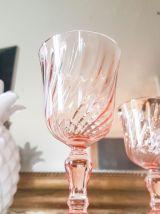 Lot de 6 Verres à eau à dépression rose ROSALINE Arcoroc Lum