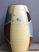 Vase HÖHR, Allemagne de l'ouest. Scrafito style
