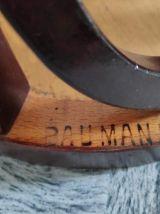tabouret de bar estampillé Baumann en bois