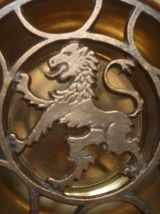 cendrier lion  en métal vintage