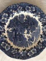 4 assiettes faience WEDGWOOD-28 cm (Angleterre 1950)