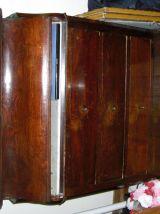 Commode de toilette en bois d'acajou et marbre