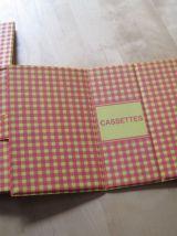 Boite a cassettes audio  1960  vintage