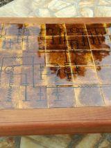 """Table basse """"Céramiques du Quercy"""" pièce unique"""