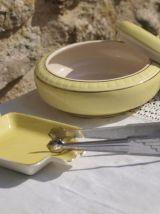 Set de 3 pièces  Art-déco: pot sucrier, vide-poche /cendrier