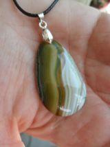 pendentif pierre Jaspe vert