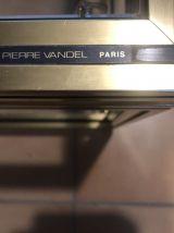 table design Pierre Vandel 1970 métal doré