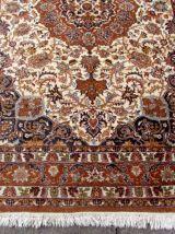 Tapis vintage Inde-Tabriz fait main, 1Q0071