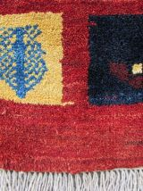 Tapis vintage Persan Gabbeh fait main, 1Q0105