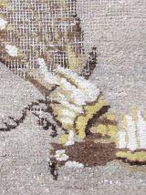 Tapis ancien Chinois Art Deco fait main, 1Q0120