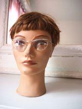 Paire de lunettes cats eyes en bakélite vintage 50's 60's