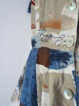 Robe chemise midi boutonnée motif patchwork vintage 80's