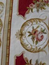 Tapis vintage Français Aubusson fait main, 1Q0139