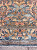 Tapis vintage Afghan Zigler fait main, 1Q0148