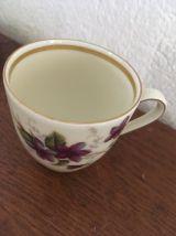 2 tasses café en porcelaine.