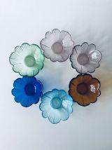 Lot de 6 coupelles en verre colorées