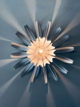 Applique murale ou plafonnier fleurs blanche en métal