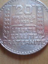 3 Pièces turin 20 francs argent  2. de 1933 1 de 1938