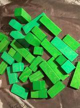 Lot de Blocs de construction en Bois - Heros - 124 pièces
