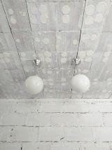 2 suspensions art deco années 30 vintage aluminium Bauhaus