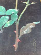 Peinture sur soie vintage