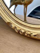 Ancien miroir doré 47X37 cm