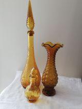 Carafe italienne ambrée vintage