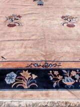 Tapis ancien Chinois Art Deco fait main, 1Q0158