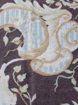 Tapis vintage Français Aubusson fait main, 1Q0175