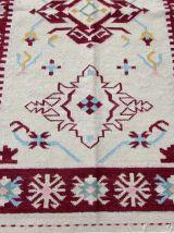 Tapis vintage Indien Dhurri fait main, 1Q0179