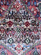 Tapis vintage Persan Senneh fait main, 1Q0209