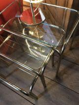 Tables gigognes en verre
