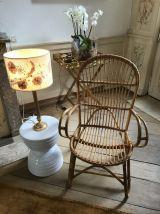 Lampe vintage herbier poétique