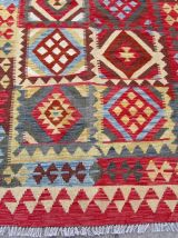 Tapis vintage Afghan  fait main, 1Q0217